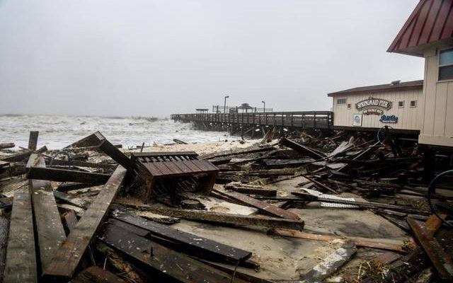 Spring Maid Pier and Surfside Damage form Storm