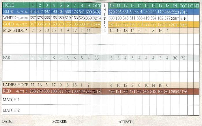 Myrtlewood Palmetto Score Card