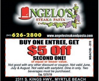 Angelo Steak Restaurant Coupons