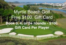 Free $100 Gift Card Myrtle Beach Golf