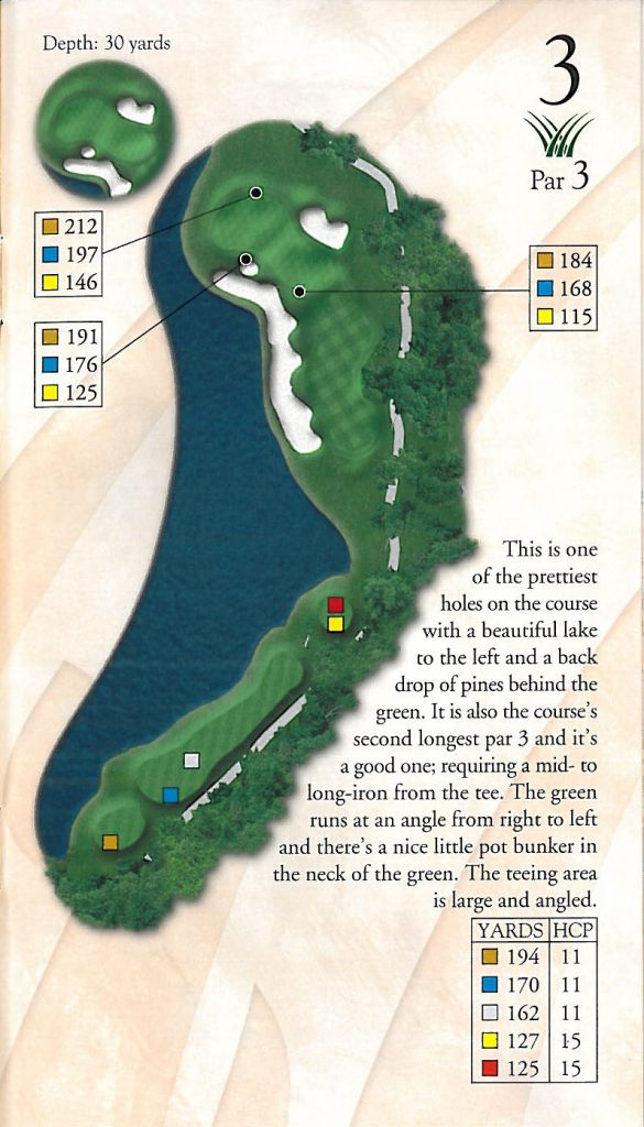 Pawleys Plantation Golf Hole 3 Par 3